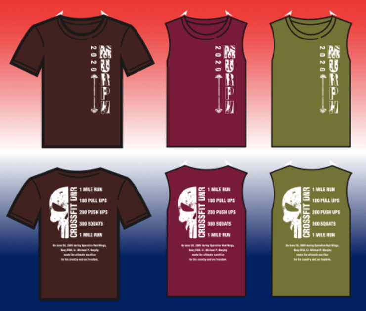 2020 Murph WOD Shirt Hero WOD - CrossFit DNR Fort Collins